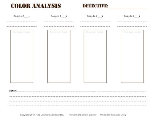 color analysis chromatography worksheet