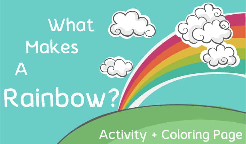 what makes rainbow activity and coloring page