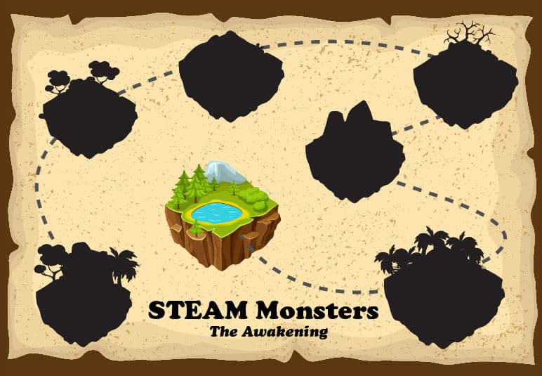 STEAM Monsters Map of levels